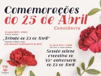 Comemorações do 25 de Abril em Constância | 24 e 25 de abril