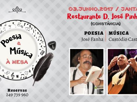 Poesia e Música à Mesa com José Fanha e Custódio Castelo