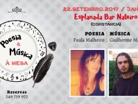Poesia e Música à Mesa com Paula Malheiro e Guilherme Malheiro